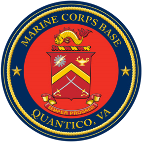 Seal of the Marine Corps Base in Quantico, Virginia